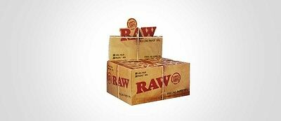 Raw Roach 50 Booklets {Full Box} =2500 Roaches Vegan Genuine Raw Filter Tips
