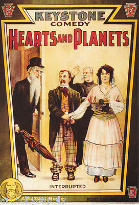 Poster :movie Repro: Hearts & Planets (1915) - Free Shipping ! #ae6327 Lw4 O