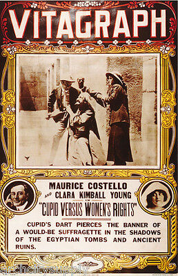 Poster: Movie Repro: Cupid Vs Women's Rights (1913) - Free Ship #ae6326 Lw5 F