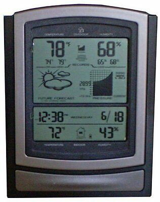 Acurite Deluxe Wireless Weather Center In & Out Temperature Pressure Easy Setup