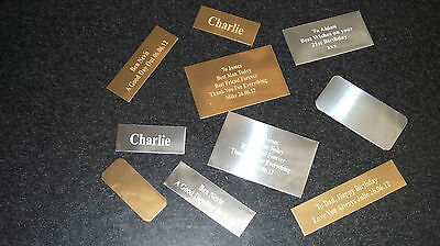 Trophy Engraving Plates / Name Plaques - ENGRAVED FREE - ONLY 99p EACH
