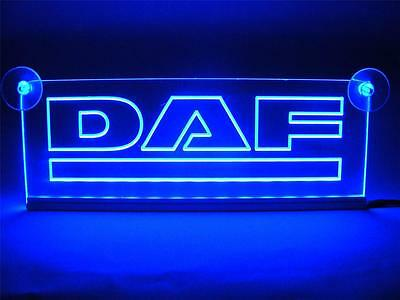 Daf Illuminating Blue Neon Plates 12 V.