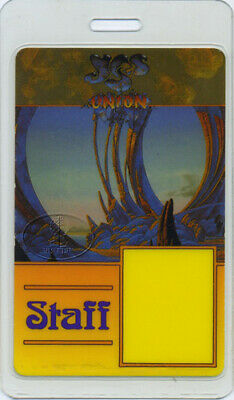 Yes 1991 Union Tour Laminated Backstage Pass