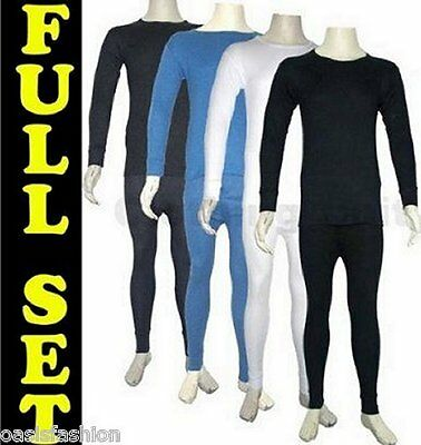 Mens Thermal Long Johns Underwear Long Sleeve Top Tshirt Set In Sizes S-Xxl