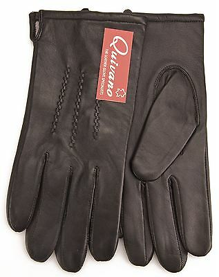 Quivano Mens Genuine Soft Leather Gloves Fleece Lined 302-200