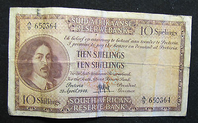 1948 South Africa 10 Shillings Note