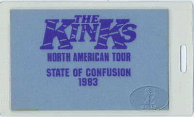 The Kinks 1983 State Of Confusion Tour Laminated Backstage Pass Aa