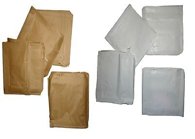 "Kraft Paper Bags Brown / White 12""x12"" Takeaway / Restaurant Select Color & Qty"