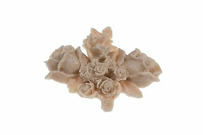 French Shabby Chic Cottage Style Rosy Posy Flexible Applique
