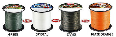 Berkley Whiplash BRAID 1800m Spools 20lb-250lb Green/Crystal/Camo/Orange