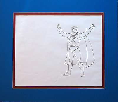 ORIGINAL 1970's SUPERMAN CARTOON ANIMATION CEL PRODUCTION DRAWING Super Friends