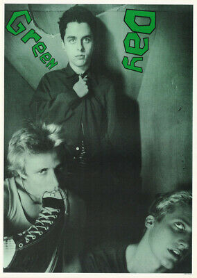 Poster : Music : Green Day - Group Posed  - Green Tint -  Free Shipping ! Lc17 F