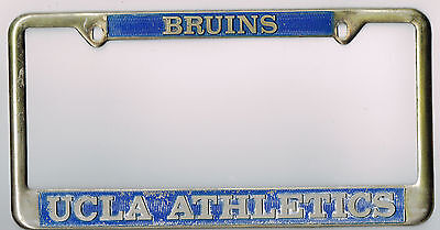 rare los angeles california ucla bruins athletics vintage license plate frame