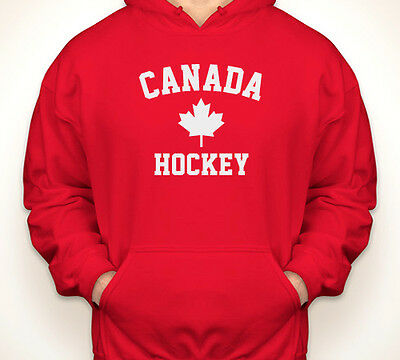 Red Canada Varsity Hoodies Canadian Pride Maple Leaf Canada Flag Sweatshirts