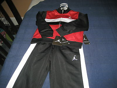 BOYS NIKE AIR JORDAN TRACK SUIT SIZE 2T RED/BLACK/WHITE  MSRP $64 NEW WITH TAG