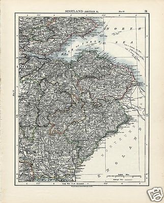Antique Scotland Maps: Edinburgh Dumfries / Dumbarton Stirling by Johnston 1906