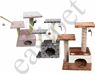 Cat Tree Scratch Scratcher Activity Centre Scratching Post Kitten Toys New 257