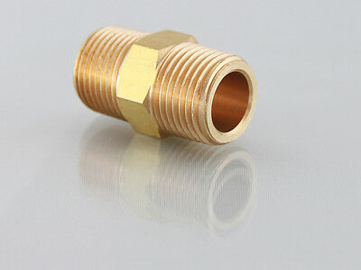 "1/4""NPT Male to 1/4""Bsp Male Adaptor Nipple for Air Water etc              b277"