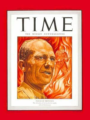 August 28, 1944 TIME MAGAZINE Major General Patch of Provence WWII World War II