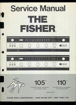 Rare Original Factory The Fisher 105/110 Stereo Tuner Receiver Service Manual