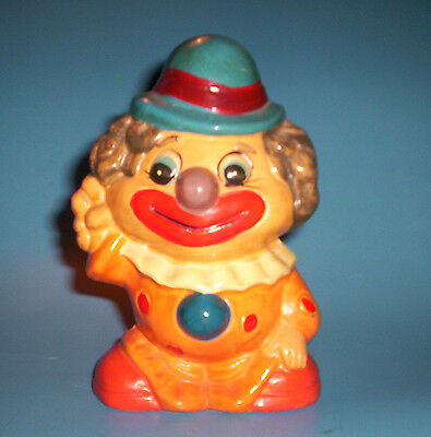 "Vintage Ceramic CIRCUS CLOWN BANK 6.5"" Tall"