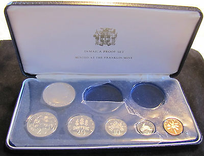 1975 Jamaica Proof Set - Missing 2 Coins