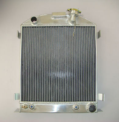 ALL ALUMINUM RADIATOR FORD-Model 1937-1938 CHEVY-V8-Engine 3 ROW Stock Height