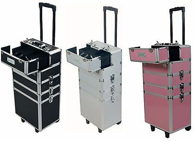 MollyCoddle Brand 7 In 1 Hairdressing Makeup Beauty Case Cosmetic Trolley