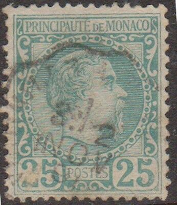 Stamp(W31) 1891 Monaco 25c Green ow6