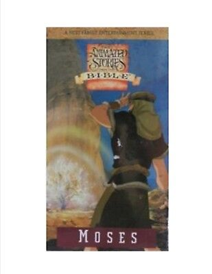 animated stories from the bible moses vhs lds  new