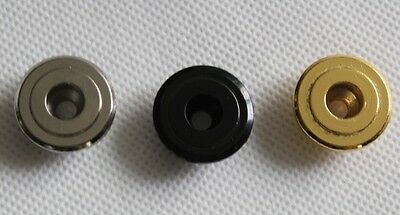 Bass guitar vintage style round string guide / retainer chrome black or gold new