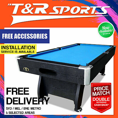 New! 7Ft Modern Design Blue Felt Pool Table Snooker Billiard Free Accessory Kit