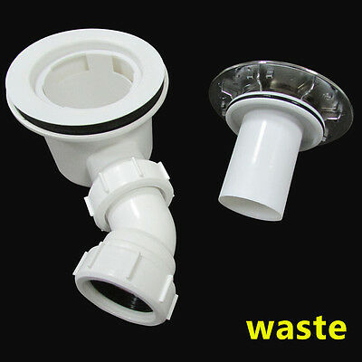 90mm Fast flow Shower Enclosure waste trap For tray Q9