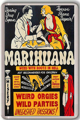 1930 Marihuana Anti Drugs Vintage Fridge Magnet