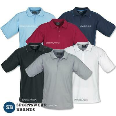 Mens Resort Style Polo Shirt Top Office Business Casual Sports Size S-5XL P9900