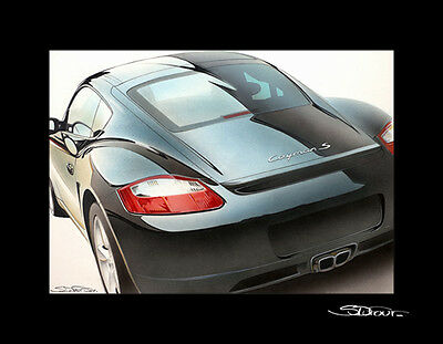 Limited edition Porsche Cayman S  by the artist Stephane DUFOUR     no RS GT3