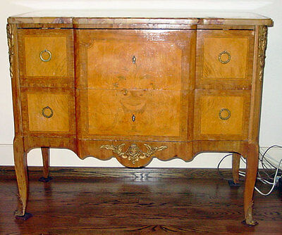 Antique French Marble Top W/ Ormolu Mounts  Commode Dresser Chest / Sideboard