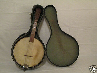 1940's 8 String Mandolin Banjo in Original Case - Maple body - Rare