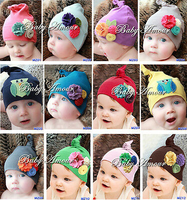 New Top Baby Toddler girl boy cotton hat beanie cap hat band
