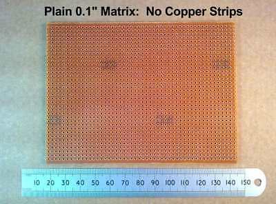 "Plain 95 X 128mm SRBP Electronic Prototype Matrix Circuit Board 0.1"" No Copper"