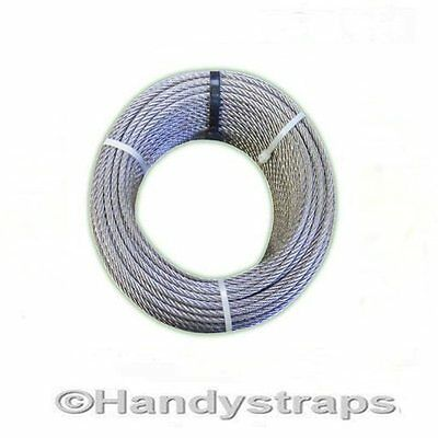 per Metres of 4mm Wire Rope 7x19 Marine Stainless Steel