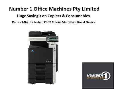 Konica Minolta C360 Colour Copy,Fax,Print,Scan to e-mail/PDF