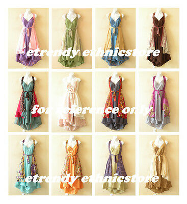 Wholesale Lot - 25pcs Vintage Silk Magic Wrap Skirt Halter Tube Maxi Dress +DVD