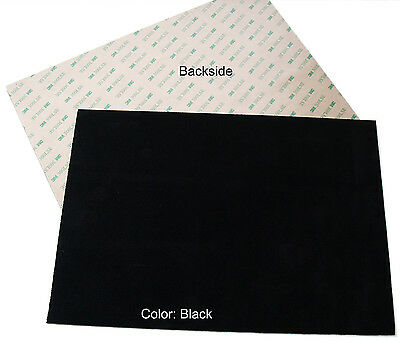 "Suede sheets 8.5""x12"" with super-strong self-adhesive backing, many colors"
