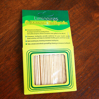 100 natural cinnamon toothpicks refill pack