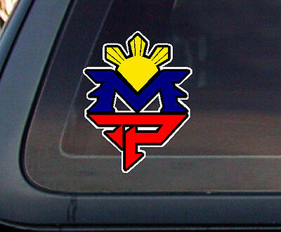 Mp manny pacquiao philippine flag sun car decal stickers