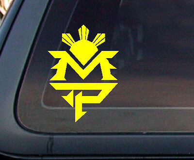 Mp manny pacquiao philippine flag sun car decal stickers yellow