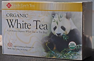 Legends of China Organic White Tea by Uncle Lee's Tea - 100 Tea Bags