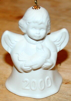 Goebel 2000 25th Edition Annual Angel Christmas Tree Bell Ornament New Box