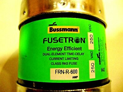 NEW Bussmann FRN-R-600 250V 600A Fusetron Dual-Element Time Delay Fuse